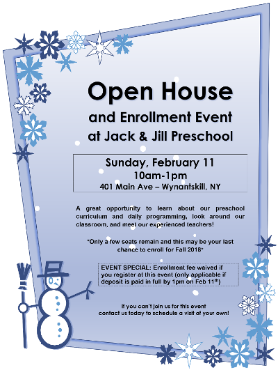 Open House and Enrollment Event