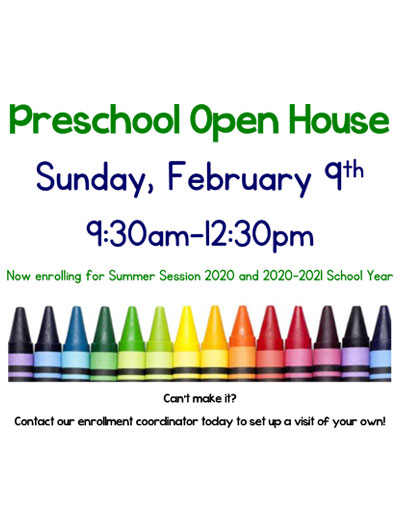 February Preschool Open House